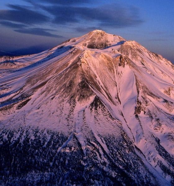 Vista aérea Monte Shasta. Foto: Archivo