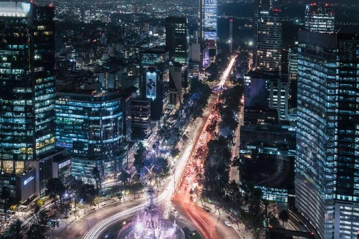Vista de Reforma de noche desde Sofitel Foto: Sofitel Mexico City Reforma