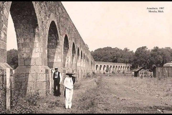 Una antigua Foto del Acueducto de Morelia Foto: Entérate Michoacán