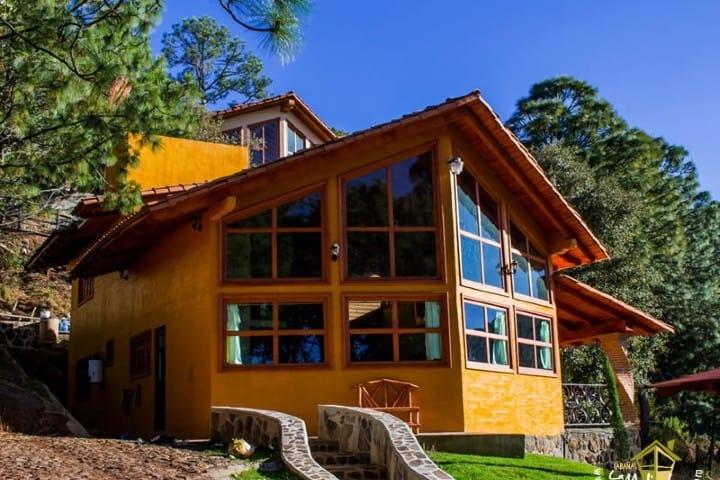 ¿No se ve encantadora la cabaña de Mazamitla? Foto: La Malinche