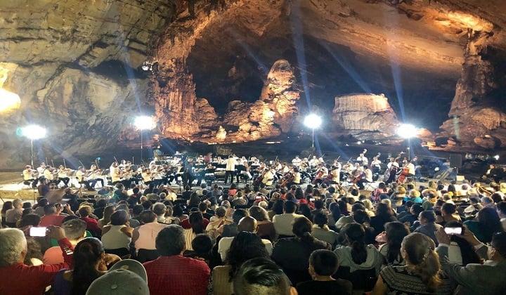 Imagínate la belleza de escuchar a tu artista favorito en estas grutas. Foto: Secretaría de Cultura de Guerrero