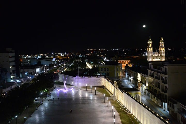 La noche de Campeche es una belleza. Foto: Punto Medio