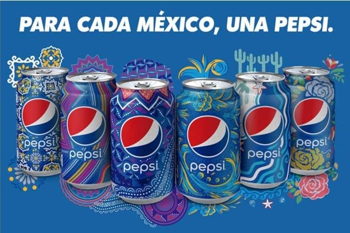 Las seis latas edición especial de la campaña de Pepsi en México. Foto: Archivo