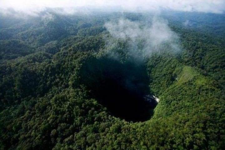 Toma aerea del Sótano de Barro. Foto: Queretanizate