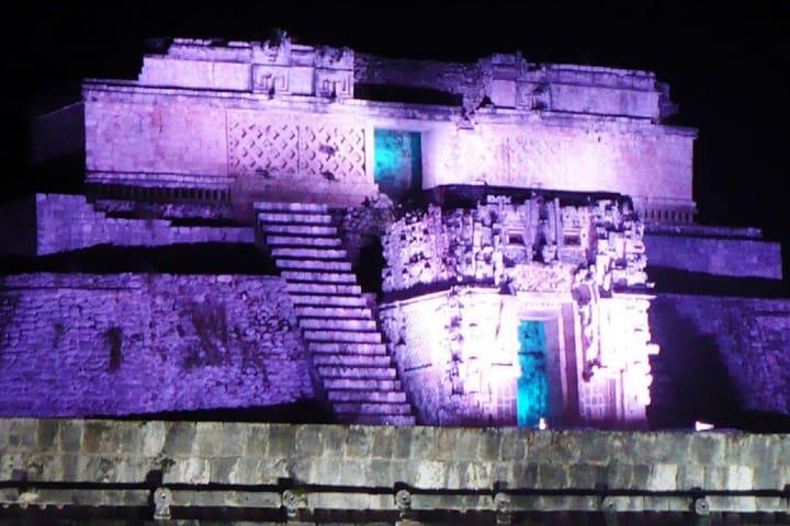 Espectáculo de luces en Uxmal Foto: Alondra Chaparro