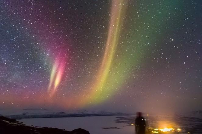 Abisco sky station en la Laponia Sueca para avistamiento de auroras boreales. Foto: Tim De Decker