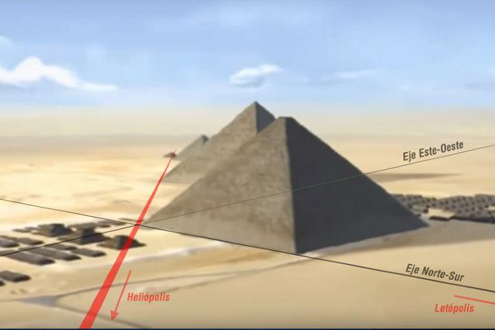 Alineación de las pirámides Foto: invdes