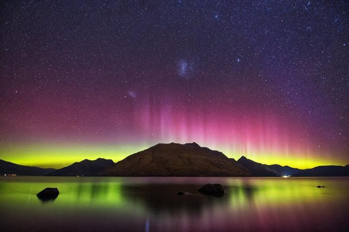 Aurora Boreal Isla Stewart Foto: anywhr
