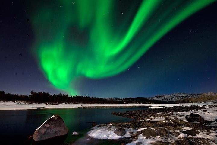 ¡Cabo Norte, Noruega es el lugar indicado para el avistamiento de Auroras Boreales! Foto: Barrabes