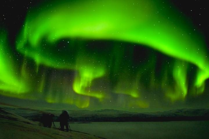 Aurora boreal en Laponia Sueca. Foto: New posting