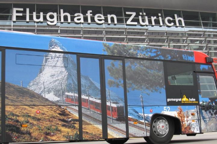 Autobús del Aeropuerto Zúrich Foto: Turismo