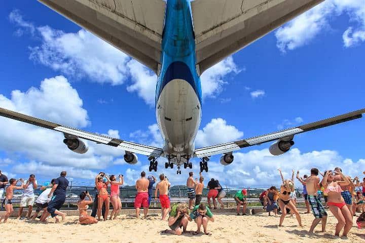 Avión en la playa Foto: Mertial Dekker