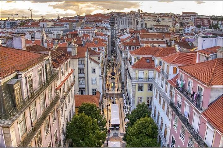 Este es el Barrio de Baixa, donde podrás encontrar el Home Lisbon Hostel. Foto: Zap aeiou