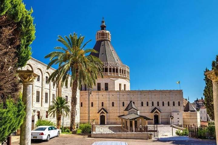 Basílica de la Anunciación, uno de los lugares sagrados que debes conocer en Jerusalén. Foto: holylandpics