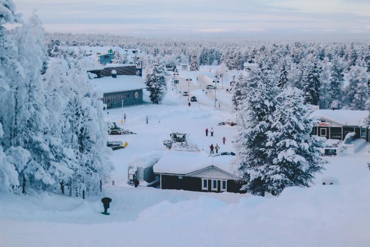 Cabañas en Laponia. Foto Ethan Hu