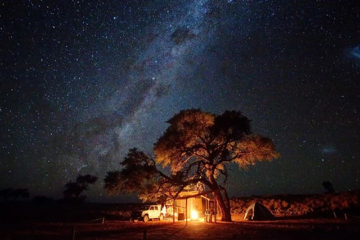 Campamento en la Reserva Natural NamibRand Foto: Turismo de estrellas
