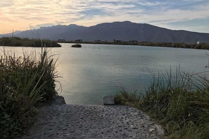 Vista desde lejos, el área de camping parece más pequeña, ¿Verdad? Foto: Balnearios de México