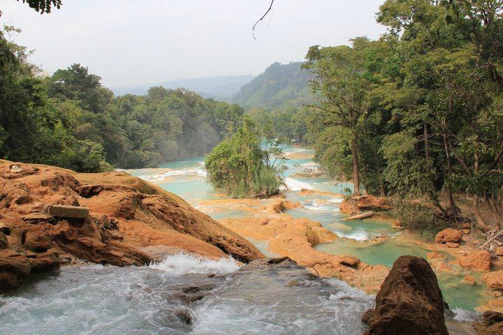 Disfruta de las cascadas de Agua Azul Chiapas con toda tu familia. Foto: Aline Dassel