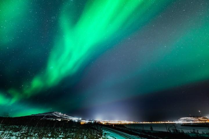 Auroras boreales en Kiruna, Laponia Sueca. Foto: Ronald Fröjd