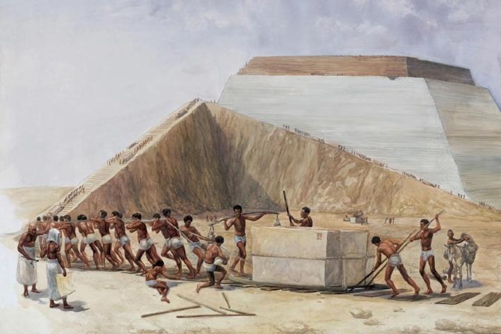 Egipcios moviendo bloque de piedra Foto: Ancient origins