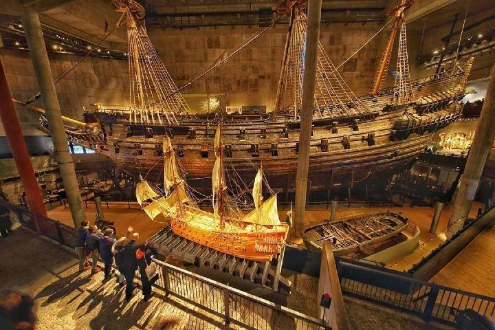 El barco más importante en exhibición en el Museo Vasa. Foto: vasamuseet