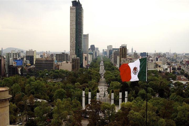 Monumento a los Niños Héroes desde las alturas Foto: Enrique Danz