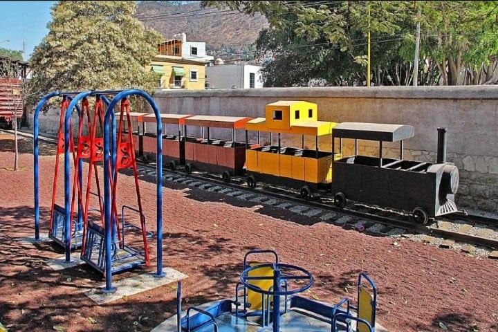 El pequeño tren en el Museo infantil del Ferrocarril Foto: nvinoticias