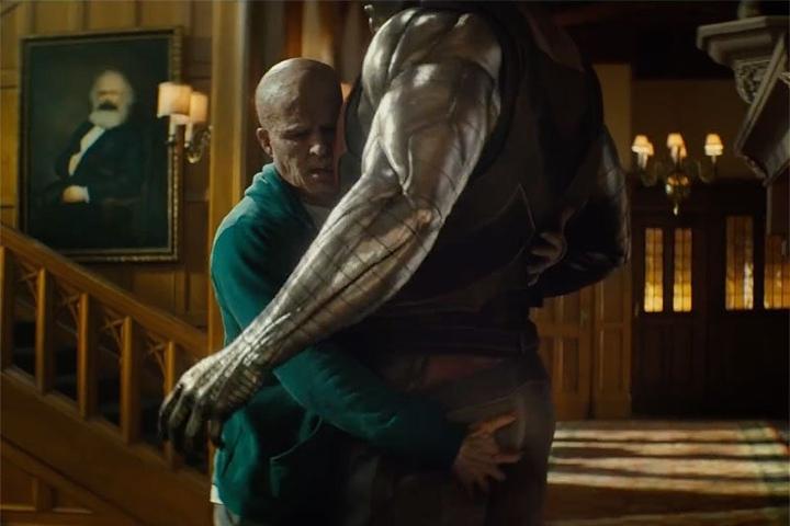 Un emotivo abrazo entre Deadpool y Coloso en la Mansión x Foto: Jules