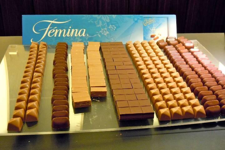 En 1907 Cailler amplía su gama de chocolates introduciendo Fémina. Foto: To Europe with Kids