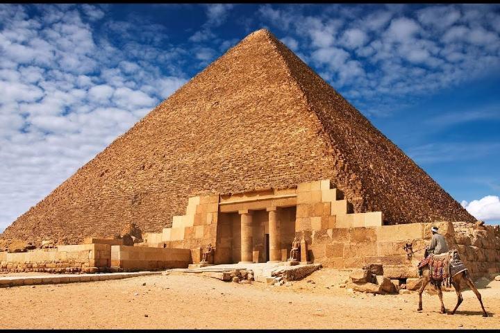 Entrada de la pirámide Foto: Lo que nadie dice