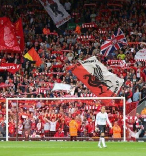 Estadio de futbol Anfield en Inglaterra. Foto: Archivo