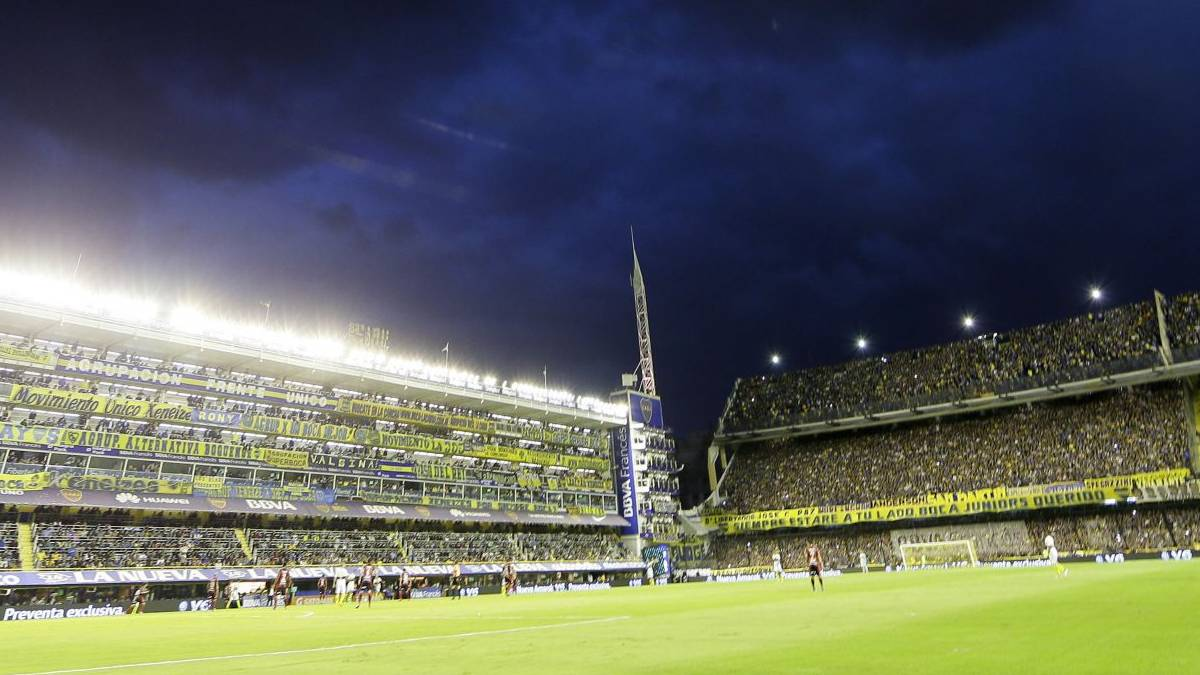 Estadio de fútbol Bombonera Argentina