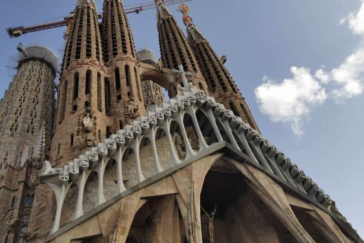 Fachada Basílica de la Sagrada Familia Foto: Daniel Hernández
