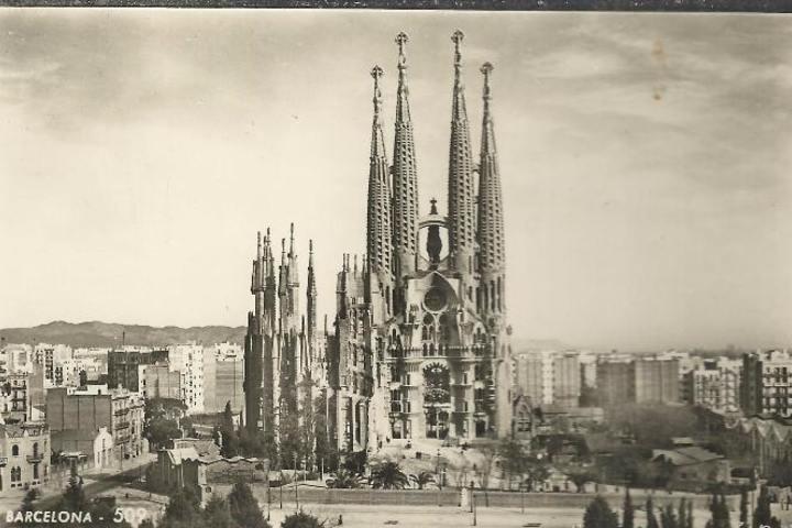 Foto antigua de la basílica Foto: Todo Colección