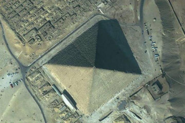 Gran Pirámide desde altura Foto: Toda noticia