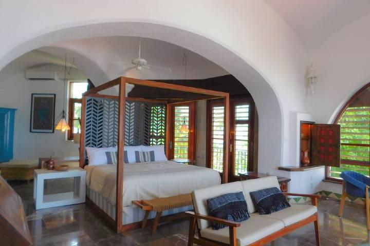 Habitación en donde podrás hospedarte cómodamente. Foto: Casa Lisa