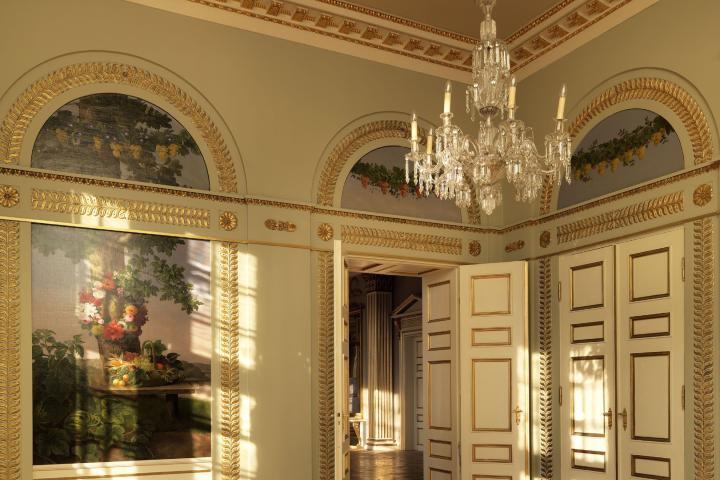 Interior del palacio Christian VIII Foto: J Mobius