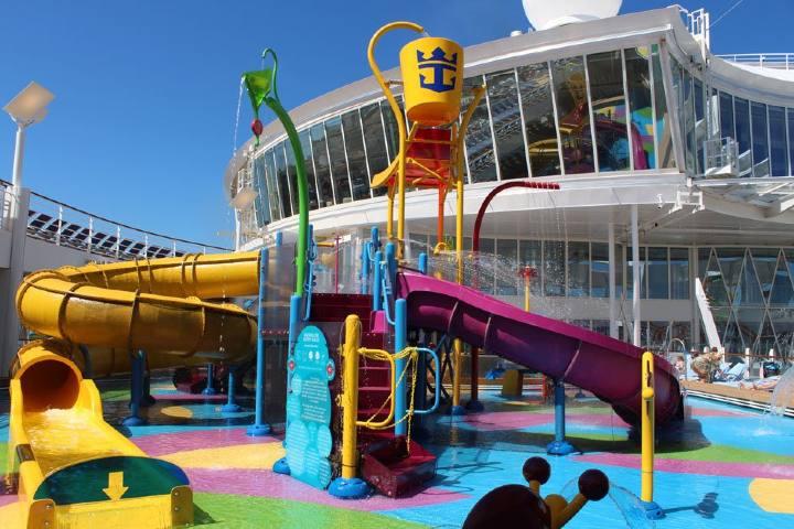Juegos acuáticos Harmony of the Seas Foto: infocruceros