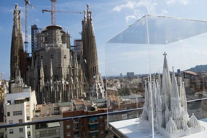 Maqueta de la Sagrada Familia Foto: 800 noticias