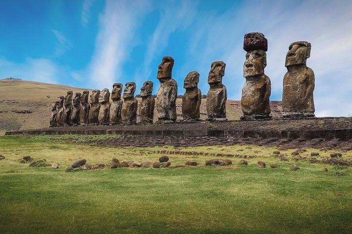Moáis en la Isla de Pascua. Chile. Foto: El español