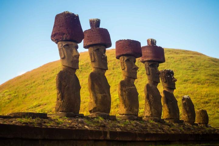 Sin duda los Moáis son espectaculares. Foto: El mundo de pe a pa