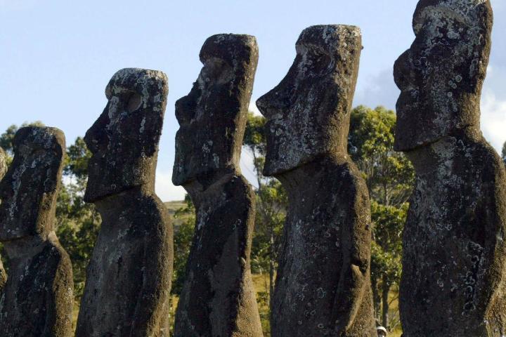 Moáis, las esculturas más representativas de Chile. Foto: France