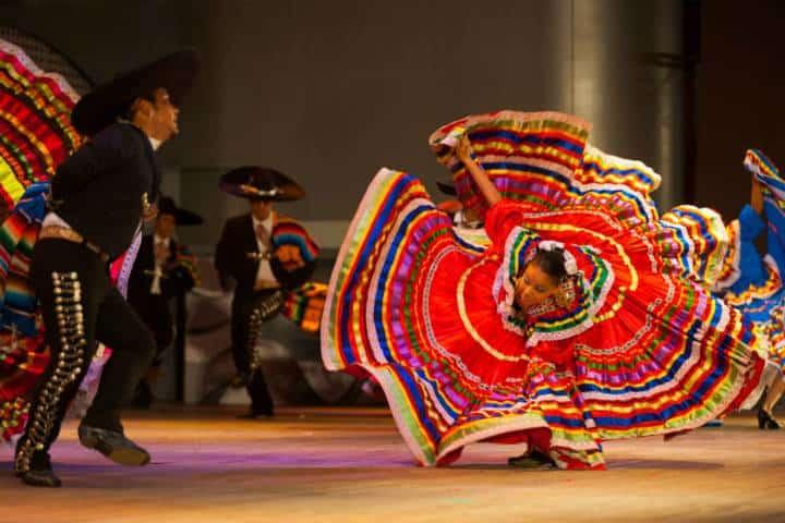 Pareja bailando el Jarabe Tapatío Foto: shutterstock
