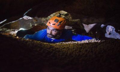Persona en la cueva de las canicas Foto: Jungla Experience Turismo