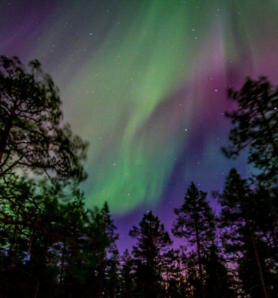 Auroras boreales en Laponia Sueca. Foto: Travel in Shots