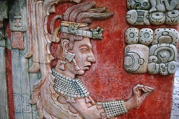 Esta es la representación del Rey K'inich Janaab' Pakal. Foto: Scoopnest