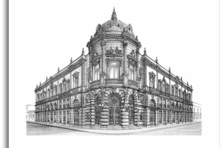 Teatro Macedonio Alcalá. Construcción. Foto Mayolo Ramírez