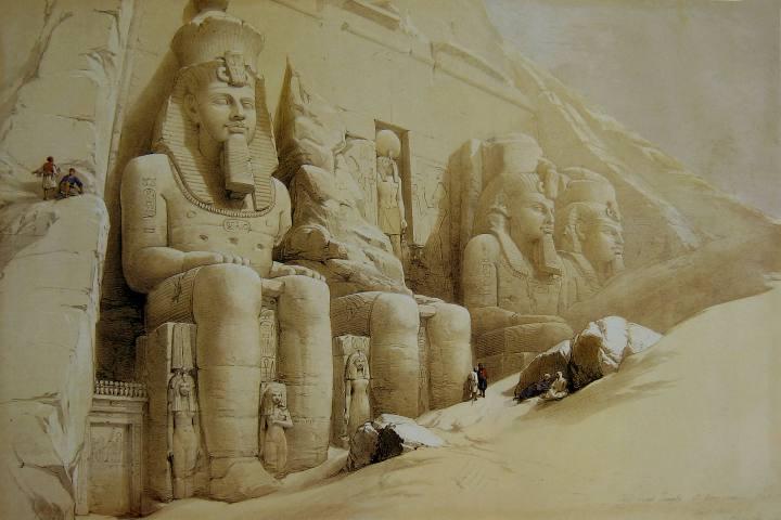 Templo de Ramsés bajo la arena Foto: David Roberts