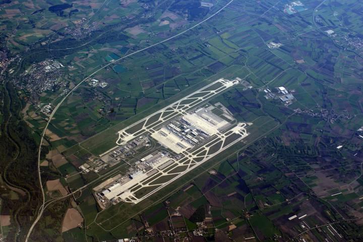 Toma aérea del aeropuerto de Munich Foto: Munichjooinn