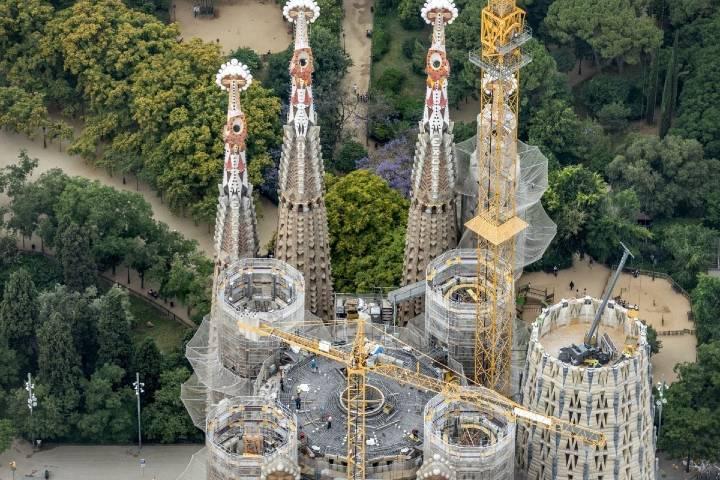 Torres de la basílica Foto: blog de la Sagrada Familia